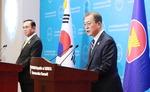 """""""한·아세안, 평화·번영의 동반자…보호무역 반대"""" 천명"""