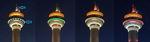 양산타워, 미세먼지 신호등으로 변신