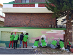 건협 부산검진센터, 건강마을가꾸기 사회공헌활동 벽화그리기 실시