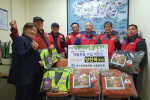 한국자유총연맹 남항동분회, 재활용수집 어르신 온기나눔 방한복 지급