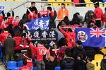 중국 국가연주때 홍콩인 등돌려…동아시안컵 축구경기 신경전