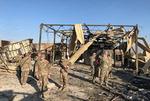 이란 공격받은 미군기지 현장