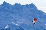설산 가르는 점프