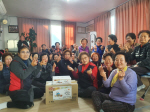 봉래2동 자유총연맹, 설맞이 경로당 방문
