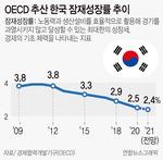 "OECD ""올 한국 잠재성장률 2.5%"""