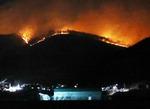 강풍 속 울산 산불 확산…진화헬기 추락