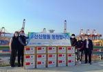 중국 항만 크레인 제작사, 부산신항에 마스크 기부