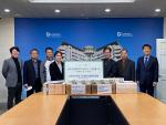 중국發 마스크 1만 5000장 동명대 전달식