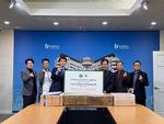 동명대 온정 마스크 전달식…중국서 보낸 1만5000장