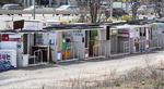 방치된 선거 유세 차량 구조물
