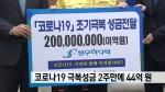 코로나19 극복성금 2주만에 44억원