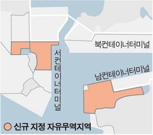 부산항 신항 283만㎡…자유무역지역 추가 지정