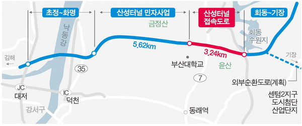 부산 산성터널 완전체 구축…화명동 ~ 회동IC 11분 만에 달린다