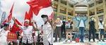 홍콩보안법 통과에 상반된 친중파와 반중파