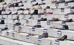 주인 없는 신발들…총기 피해 아동 추모