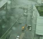 부산 폭우에 동천 범람해 빌딩 정전