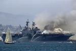 세월호 구조 투입됐던 미국 군함서 대형 화재
