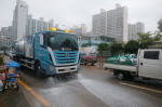 부산환경공단, 도로물청소차 활용 수해복구 지원