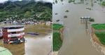 물에 잠긴 화개장터…낙동강 둑 터진 창녕
