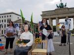 독일 베를린서 위안부 기림일 집회…수어로 외친 '정의'