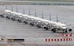 태풍 '마이삭' 북상에 인천으로 대피한 에어부산 항공기들