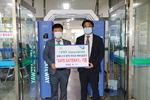 부산대 연구팀이 개발한 에어살균장치, 기숙사에 기증