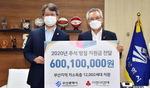 부산사회복지공동모금회, 시에 명절지원금 6억여 원 전달