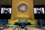 """美 트럼프, 유엔서 """"힘을 통한 평화"""" 강조"""