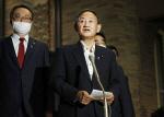 스가 일본 총리, 시진핑 중국 주석과 25일 전화 회담