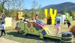 카멜레온·문어…아이들 상상력으로 만든 양산 의자공원