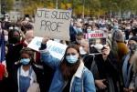 교사 참수에 분노…프랑스 전역서 수만 명 연대 시위