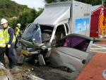 구서 IC 회전교차로 교통사고, 3명 부상