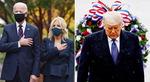 바이든 '한국전 참전비' 헌화…트럼프, 국립묘지 참배