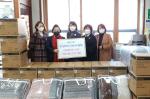 하단1동 부산로터스로타리클럽, 전자레인지 및 겨울이불 전달