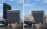 [포토뉴스] 발파 작업으로 사라지는 트럼프 호텔