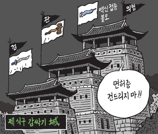 [서상균 그림창] 제 식구 감싸기 城