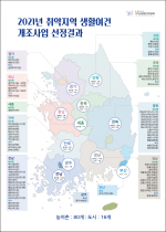 부울경 15곳 등 2021 취약지역 생활여건 개조사업 대상지 선정