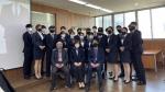 부산경상대학교 호텔마이스과 유니폼 정결식 행사