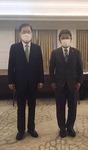 한일 외교장관 정의용·모테기 첫 회담