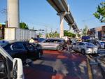 부산 강서구 도로에서 차량 9중 추돌 사고
