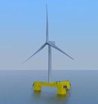 삼성중공업, 바다 위 떠 있는 해상풍력발전기 개발 성공