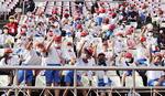 한국 응원하는 일본 초등학생들