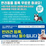 수영구, 반려동물 자진신고 기간 운영