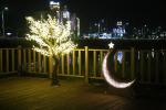명지울림공원에 야간 포토존 조성