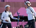 '양궁 혼성' 김제덕·안산, 도쿄올림픽 한국 첫 금메달