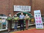 부산 중구 대청동 주민센터 옥상텃밭 친환경 채소 나눔 전달