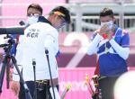 (사진으로 보는 올림픽)양궁은 여기서 '끄읕'...김우진, 8강전서 탈락