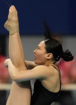 야속한 5차시기...김수지, 다이빙 결승 진출 실패