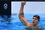 '새 수영 황제' 드레슬, 올림픽 금메달 5관왕
