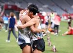 (사진으로 보는 올림픽)근대5종 첫 올림픽 메달 기쁨 나누는 전웅태와 정진화